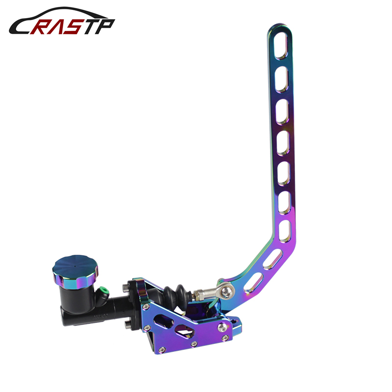 цена RASTP-Neo Chrome Aluminum Hydraulic Drift Hand Brake Racing Parking Hand Brake Lever Gear With Locking Oil Tank RS-HB917 в интернет-магазинах