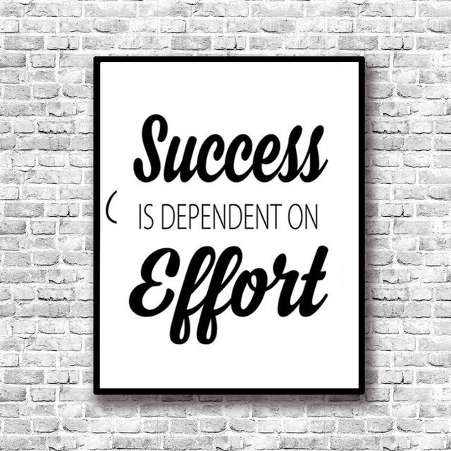 Success Inspiring Quotes Painting by Numbers Canvas Art