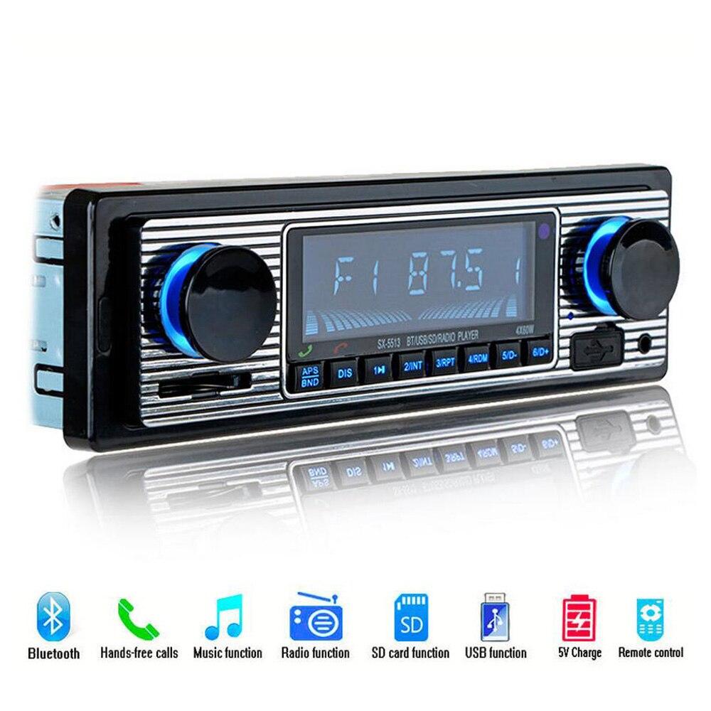Nueva 12 V reproductor de radio de coche Bluetooth Estéreo FM MP3 USB SD aux auto electrónica autoradio 1 DIN OTO teypleri Radio para carro
