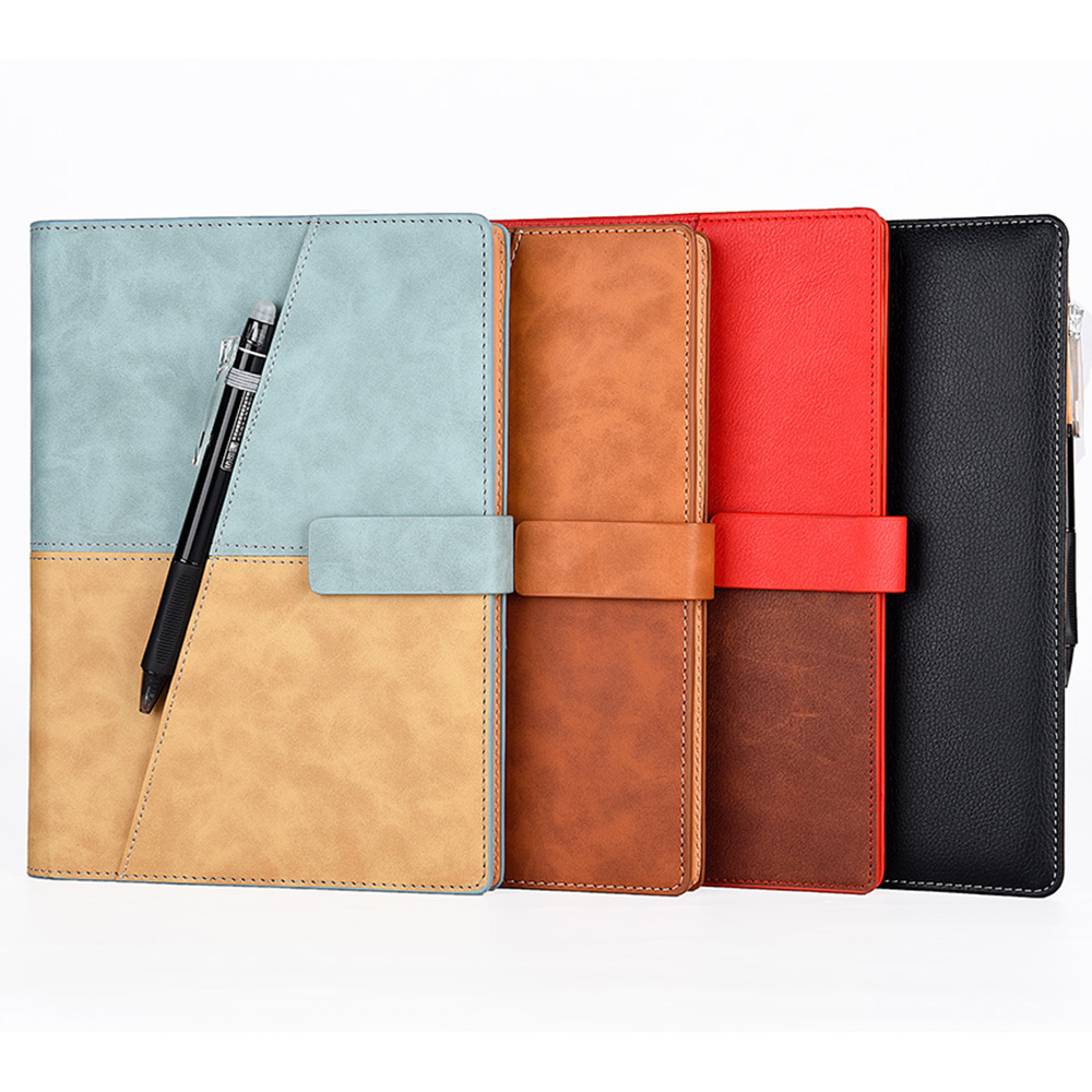 Elfinbook X Leather Erasable Smart Notebook With Pen Suitable For Kids And Students