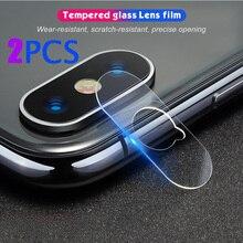 2 sztuk obiektyw aparatu szkło hartowane dla iPhone 11 12 Pro MAX XR XS Max X obiektyw ekran Protector Film dla iPhone 8 7 Plus 12 Mini Film