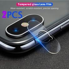 เลนส์กล้อง2PCSกระจกนิรภัยสำหรับiPhone 11 12 Pro MAX XR XS Max Xฟิล์มสำหรับiPhone 8 7 Plus 12มินิฟิล์ม