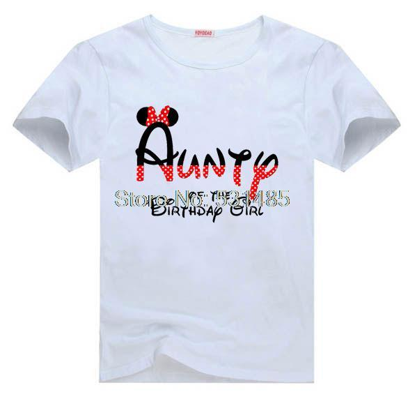 T Shirt Mouse Ears Aunty Of The Birthday Boy Personalized Minnie Party Shirts For Kids Children Girl Cartoon In From Mother On