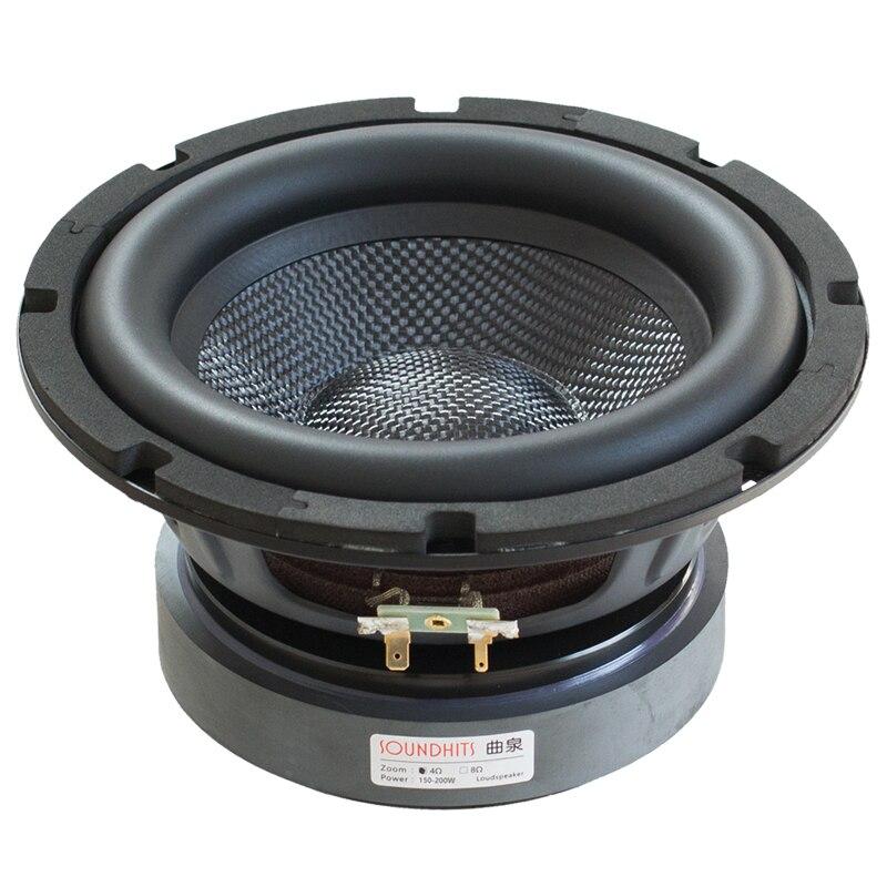 1PCS 2019 New Soundhits SW-801 8'' Subwoofer Speaker Driver Glassfiber Cone Deep Rubber Suspension Design Max 200W Power Fs=41Hz