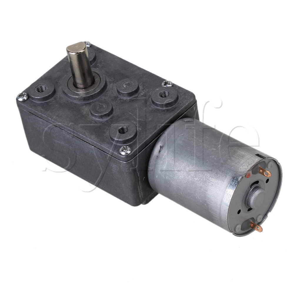 DC <font><b>12V</b></font> <font><b>0.6RPM</b></font> Low Speed High Torque Turbo Reducer <font><b>Motor</b></font> Right Angle Gear image