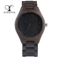 Full Wooden Watches Man Creative Simple Bracelet Analog Nature Bamboo Quartz Wristwatch Male Clock Relogio Masculino