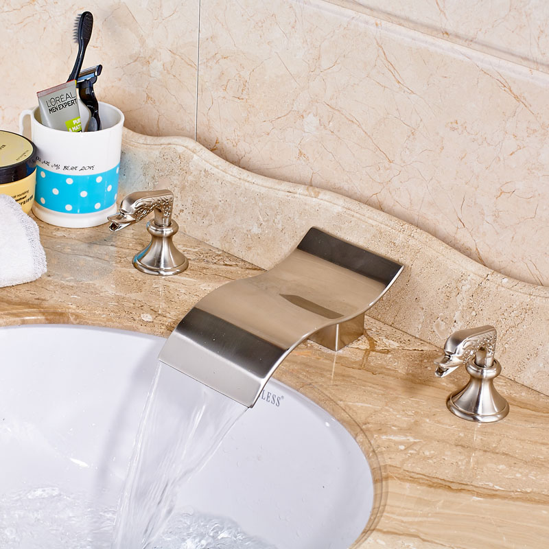 Best Selling New Product Nickel Brushed Deck Mounted Washroom Basin  Faucet best new product on sale 30