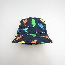 Горячая распродажа! DHL 50 шт./лот синий дети мальчик летняя шляпа хлопковая Панама для маленьких животных Динозавр Sunhat CH-1
