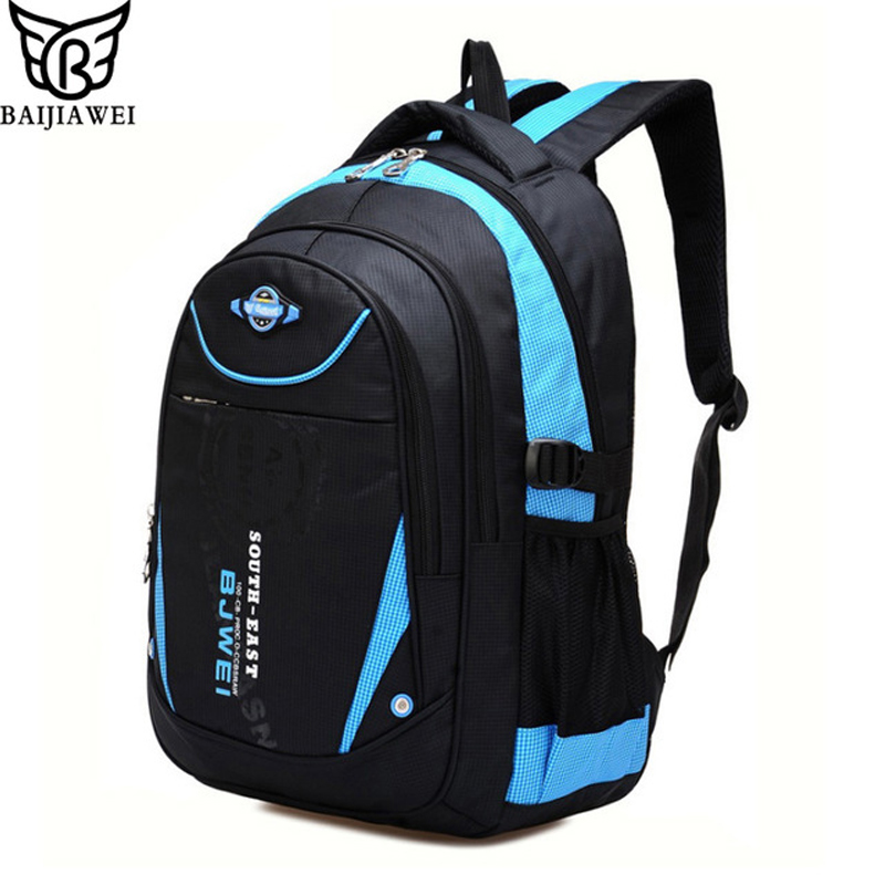 BAIJIAWEI 2017 New Children School Bags For Girls Boys Children Backpack In Primary School Backpacks Mochila Infantil Zip baijiawei new children school bags for girls boys children waterproof backpack in primary school backpacks mochila infantil zip