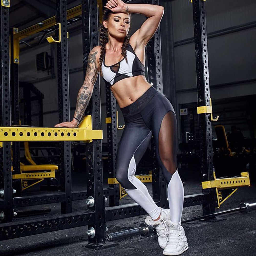 2018 Sexy Women Fashion Slim High Waist Sports Gym Running Fitness Leggings Pants Workout Clothes For Sports Gilrs Pencil Pants
