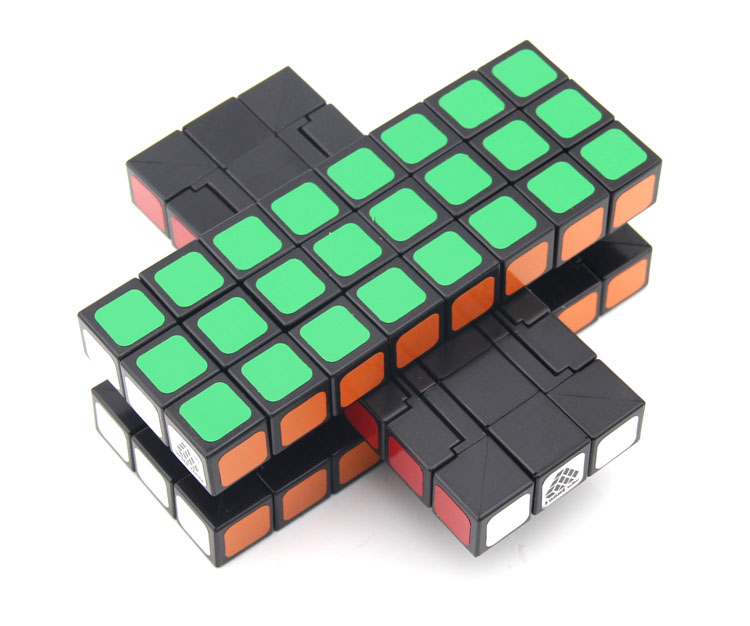 Witeden 3x3x8 cubo mágico cuboid simétrico 1c