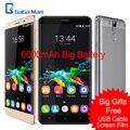 "Original K6000 OUKITEL Pro 4G 5.5 ""2.5D MTK6753 FHD 6000 mAh Smartphones Núcleo octa Android 6.0 3 GB + 32 GB 16MP 8MP 1920 * 1080px telefone"