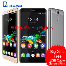 "Original OUKITEL K6000 Pro 4G 5.5 ""2.5D MTK6753 FHD 6000 mAh Smartphone Octa Core Android 6.0 3 GB + 32 GB 8MP 16MP 1920 * 1080px teléfono"