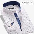 CAIZIYIJIA Hot Sale Patchwork Casual Shirt Men New Designer Long Sleeve Camisa Masculina Button Down Shirt Brand Clothing