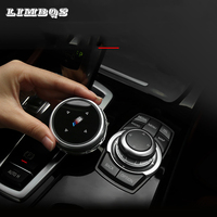Multimedia Buttons Cover Knob Trim car decoration For bmw f30 F34 f10 F20 F25 F26 F48 F07 X1 2 3 4 5 6 7 Series