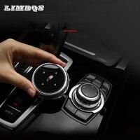 Multimedia Buttons Cover Knob Trim car decoration For bmw f30 F34 f10 F20 F25 F26 F48 F07 X1 2 3 4 5 6 7 Series