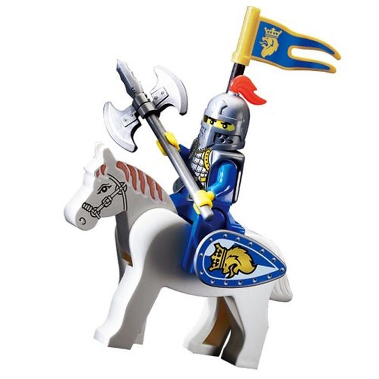 1009 19pcs Knights Castle Constructor Model Kit Blocks Compatible LEGO Bricks Toys For Boys Girls Children Modeling