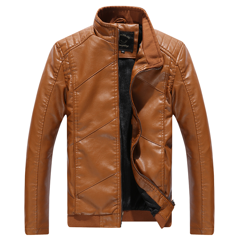 Ardhja e re 2016 Vjeshtë dhe dimër në modë PU xhaketë lëkure PU - Veshje për meshkuj - Foto 1