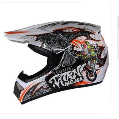 Top ABS casque de moto classique vélo vtt DH casque de course motocross descente casque de vélo lunettes comme cadeau