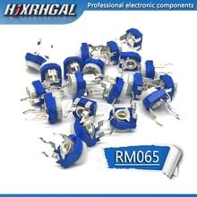 500 Uds RM065 RM 065 100, 200, 500, 1K 2K 5K 10K 20K 50K 100K 200K 500K 1M ohm Trimpot Trimmer potenciómetro de resistencia variable