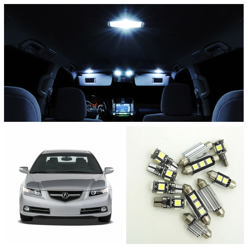 12pcs White LED Car Light Bulbs Interior Package Kit For 2004 2005 2006 2007 2008 Acura TL Map Trunk Glove Box Door Lamp