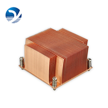 CPU radiator Intel CPU fan silent radiator Pure Copper Heat Sink skiving fin heatsink E8-01