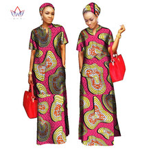 2017 african styles clothing Women Riche Bazin Straight 100 Cotton Material Free Head Scarf Lady Long