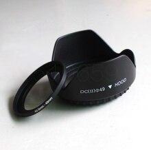 49 мм Цветок бленда + Переходники объективов кольцо для SONY NEX5t NEX 5 n 3 N-7 6 л A5000A6000 16-50 мм до 40.5 мм