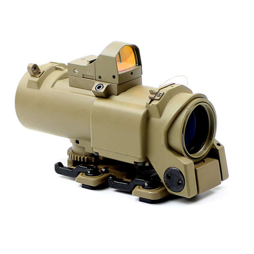 1-4x32  Crosshair Reticle elcan specter dr Prism Scope Earth Tan color метчики 1 4 32