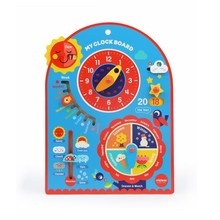 Wooden Baby Wall Clock Board Educational Funny Toys For Children