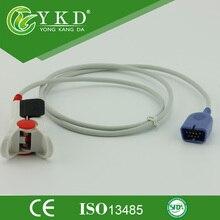 Nihon Kohden Adulto Clipe de Dedo Spo2 sensor, com short, cabo de 3 metros, 9 pinos