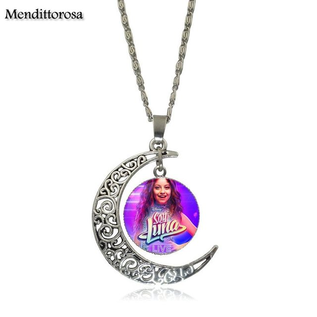 Mendittorosa Necklace Fashion Long Chain With Crescent Shaped Necklace Jewelry Super Pop Singer Soy Luna