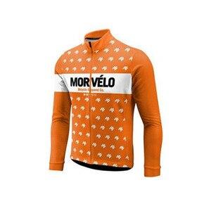 Image 4 - 2018 Morvelo 春サイクリングセットサイクリングジャージビブパンツロング秋ロードバイク自転車服 mtb mallot ropa ciclismo hombre
