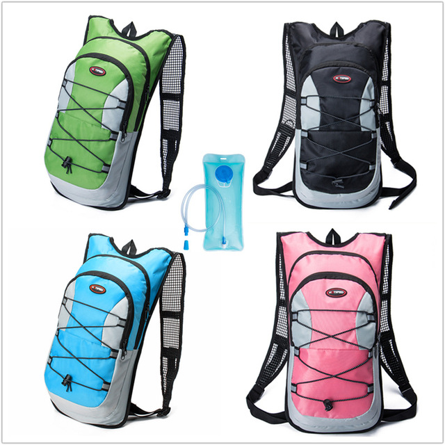 7e08e7a3a1 2L Water Bag Water Hydration Bladder + 12L Waterproof Backpack Outdoor Climbing  Cycling Camping Sport Backpack Camelback + Gift