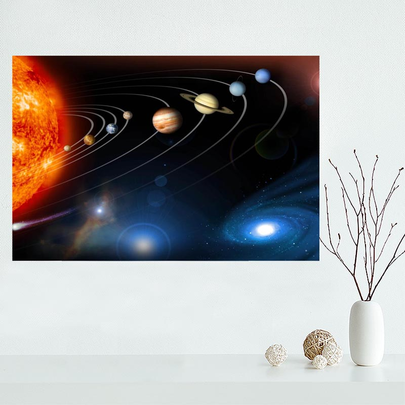 Solar System Canvas Poster Custom Canvas Painting Poster Print