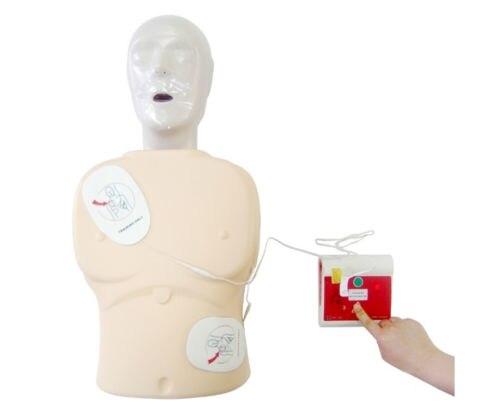 1 set AED formateur automatique défibrillateur externe simulateur Patient Machine de premiers soins rcr école compétence Traning anglais et espagnol - 6