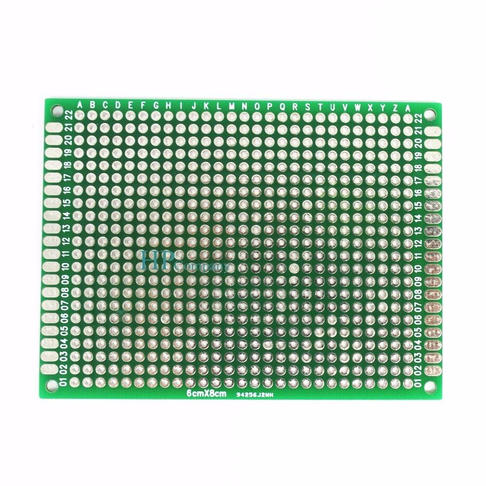 Matriz de prueba estañado doble lado PCB placa de circuito impreso panel electrónico