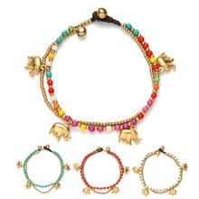 Amourjoux ручной работы золотой слон очаровательные ножные браслеты