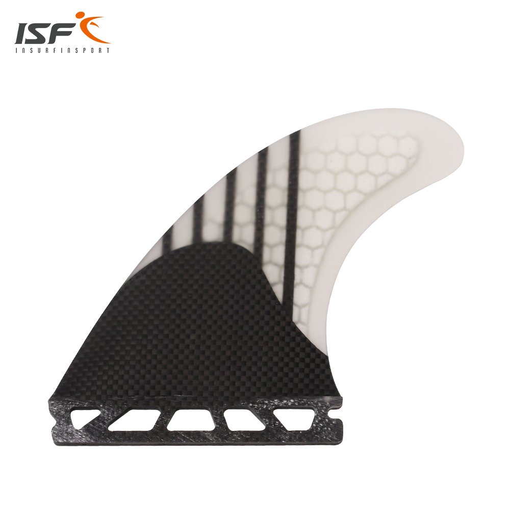 Free shipping carbon fiber honeycomb thruster future surf fins quillas pranchas de surf Quilhas paddle surfboard