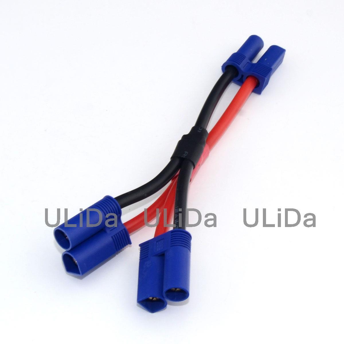 Neue ec5 parallel adapter stecker kabel 10 cm 12awg draht für rc ...