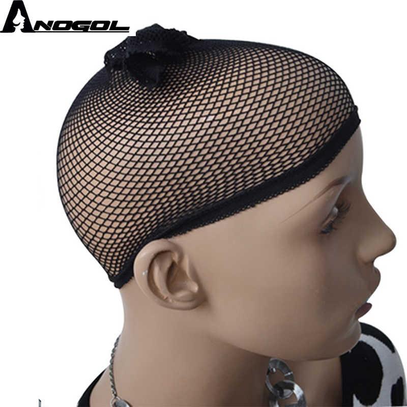 Anogol resistente al calor pelo de fibra de alta temperatura largo onda Natural naranja Auburn rojo cobrizo sintético peluca con malla frontal para las mujeres