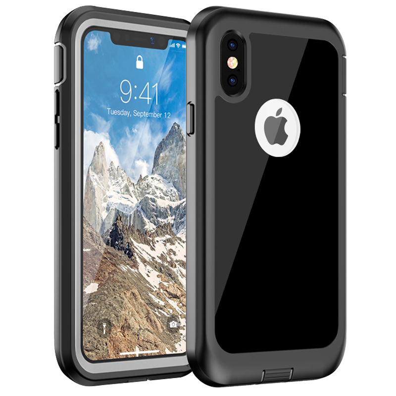 For iPhone XS XR XS Max X Case, WEFOR 360 Degrees