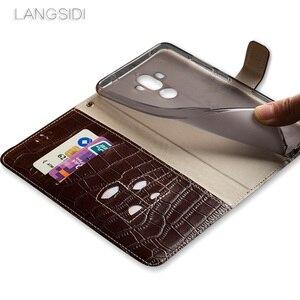 Image 5 - Wangcangli marque coque de téléphone Crocodile tabby pli déduction téléphone étui pour huawei G9 paquet de téléphone portable fait à la main personnalisé