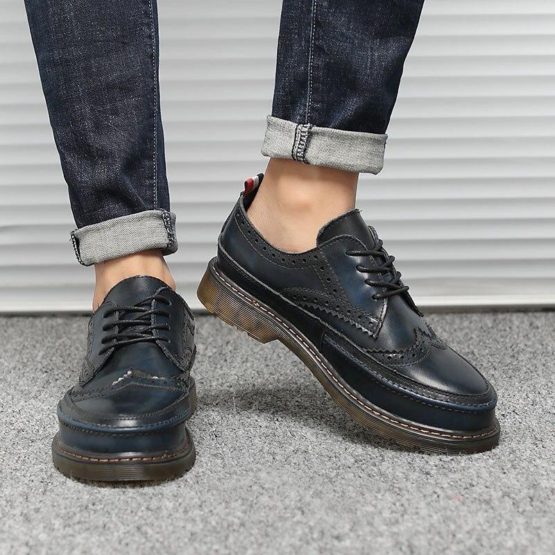 Trabalho Martin Homens Do Brown Lace Unissex Size blue 2018 red Genuínos 36 Casuais up black Vintage 47 Sapatos De Respirável Couro gray Da Moda Plus qZnRnX5wF
