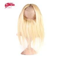 Али queen hair продукты Прямые локоны 613 14 до 20 предварительно сорвал 360 Кружева Фронтальная застежка с регулировкой
