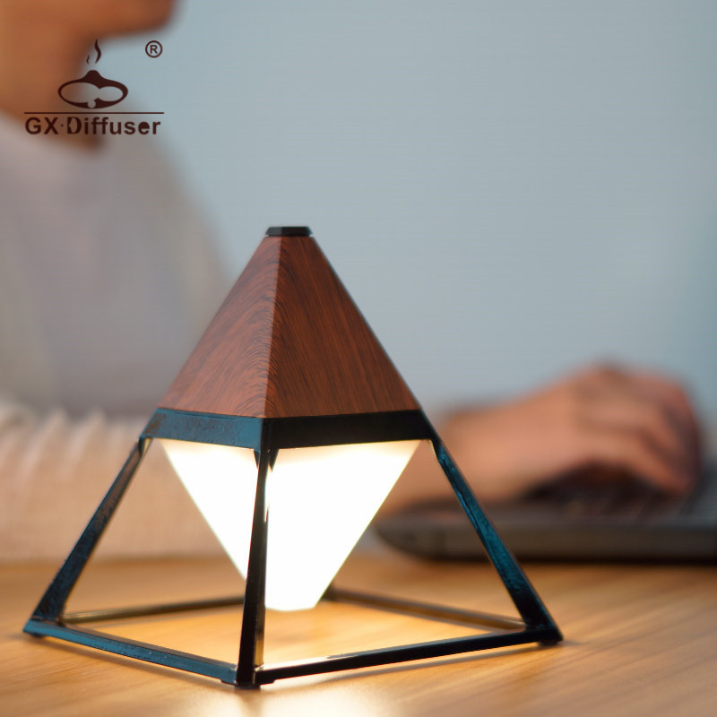 GX Diffuser Hot Sale Pyramid Practical Touch Switch Floor Lamps Waterproof Eye Protection USB Bedside Lamp
