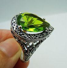 Anillos de amor para las mujeres 2016 hot new genuine joyería antigua verde oliva de las mujeres auténtica plata de ley 925 anillo de joyería tiffan
