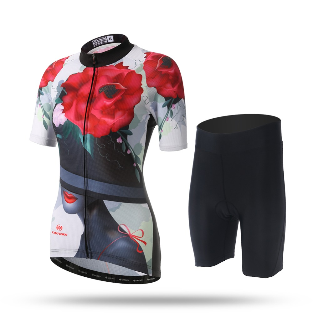 Short Sleeve Breathable MTB Bike Clothing Women Bicycle Clothes Ropa Ciclismo 100% Polyester Cycling Jersey Set Maillot Ciclismo  2017 mavic maillot ciclismo zebra pattern men personality long sleeve cycling breathable bike bicycle clothes polyester s 6xl