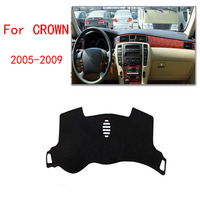 Dongzhen Car Dashboard Avoid Light Pad Instrument Platform Desk Cover Auto Accessories For Toyota Crown 2005