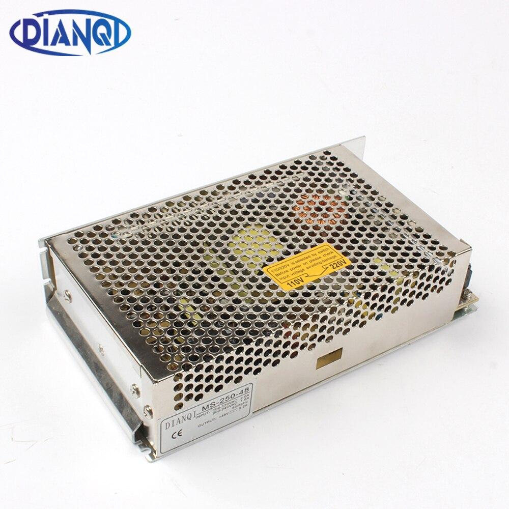 DIANQI stromversorgung 48 v 250 watt 12 V 15 V 24 V 27 V 36 V 48 V strom suply 250 watt mini größe netzteil led ac dc konverter